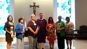 Our Lady of Grace installs their new Officers